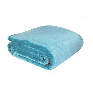 Modrá deka Catherine Lansfield Basic Cuddly, 200x240cm