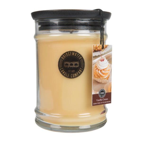 Svíčka ve skleněné dóze Bridgewater candle Company Vanilla Cream, doba hoření 140-160 hodin