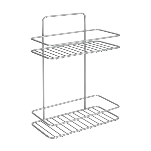 Nástěnná rohová koupelnová polička s dvěma patry Metaltex Ref