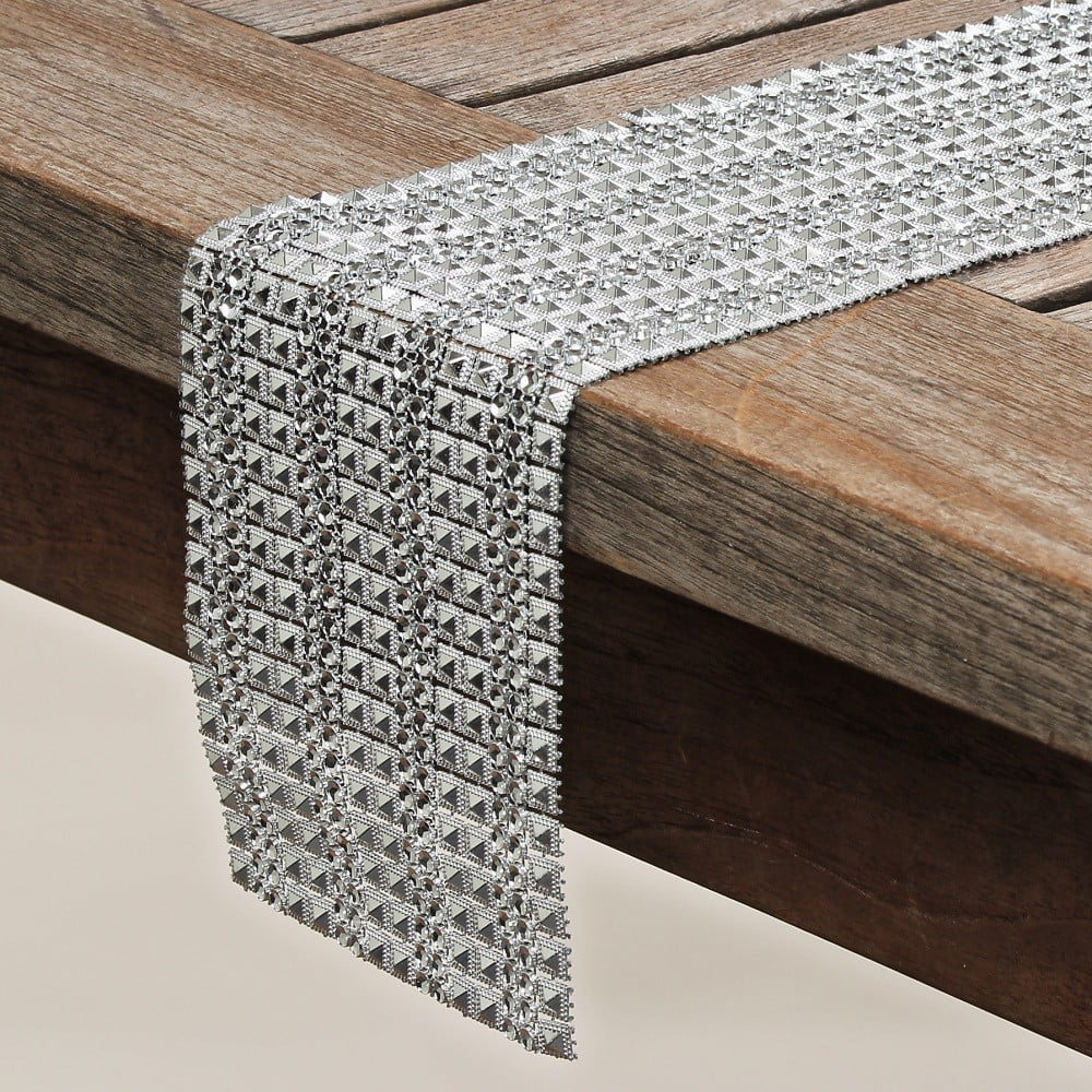 Dekorace na stůl Boltze Diamonds, 120 x 12 cm