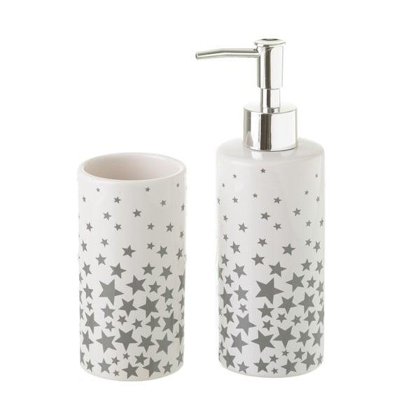 Set suport periuțe și dozator de săpun Unimasa Stars, ceramică