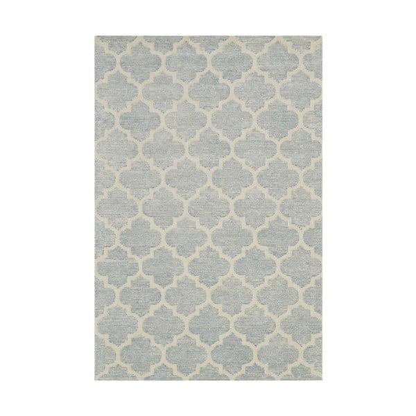 Ručně tuftovaný světle modrý koberec Bakero Diamond, 153x244cm