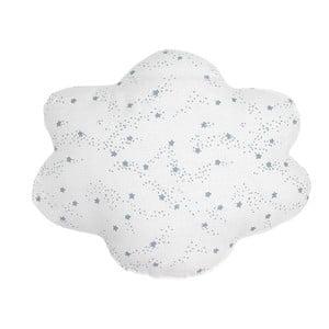 Bílý polštář s modrými hvězdičkami Art For Kids Cloud, 50x40cm