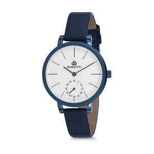 Dámské hodinky s modrým koženým řemínkem Bigotti Milano Oceania