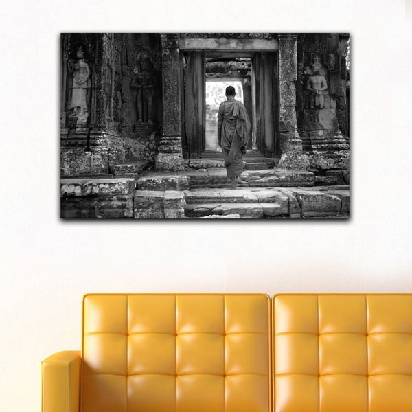 Obraz Black&White Temple,45x70cm