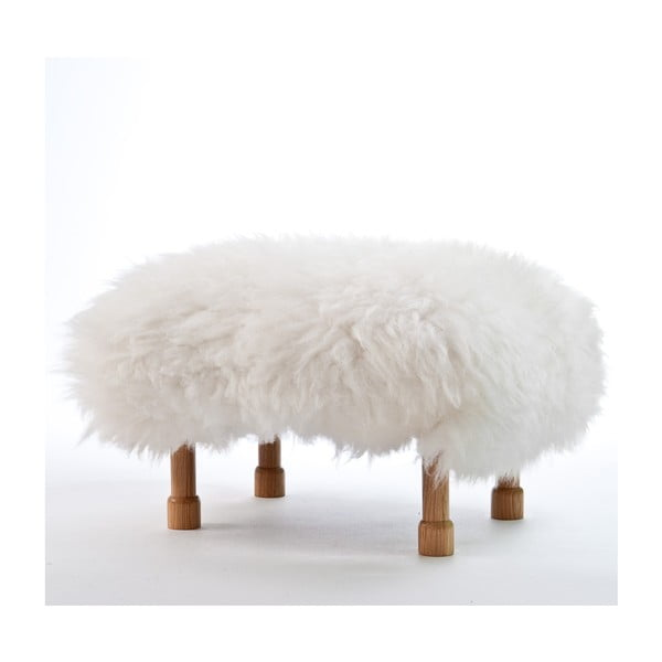 Stolička z ovčí kůže Dilys Ivory