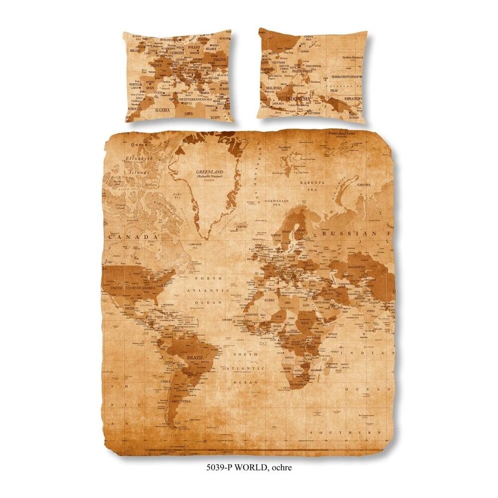 Hnědé bavlněné povlečení Muller Textiels World, 240x200cm