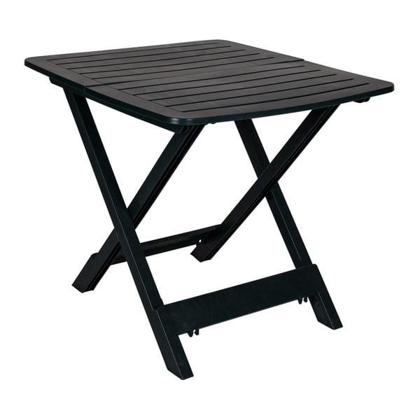 Tmavě zelený skládací zahradní stolek Crido Consulting Hunna