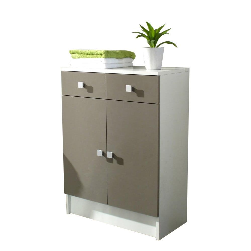 Šedohnědá koupelnová skříňka TemaHome Combi, šířka 60 cm