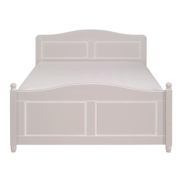 Bílá dřevěná dvoulůžková postel Artemob Khate, 160x200cm
