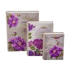 Sada 3 úložných krabic Garden Book