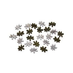 Sada 24 ks dřevěných přízdob ve tvaru květin Ego Dekor Flowers