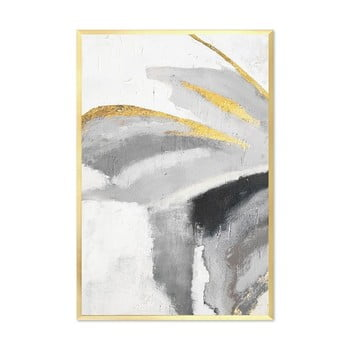 Tablou pictat manual JohnsonStyle The Golden Mariposa, 63 x 93 cm