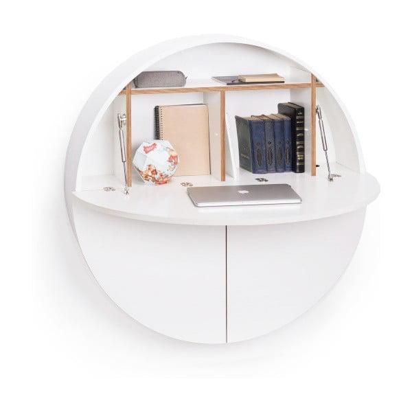 Białe wielofunkcyjne biurko wiszące Emko Pill