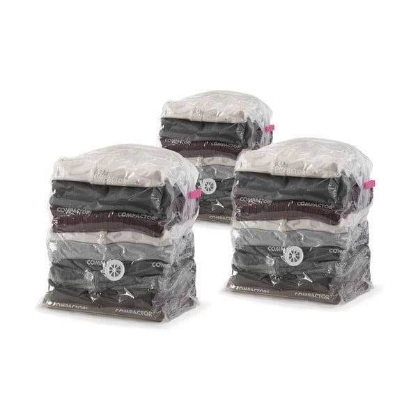 Zestaw 3 worków próżniowych na ubrania Compactor Compact Express, 20x30x50 cm