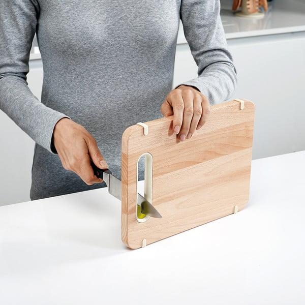 Prkénko s brouskem Slice&Sharpen Small, dřevěné