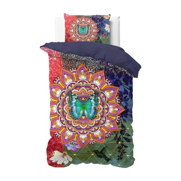 Lenjerie de pat din bumbac Sleeptime Zack, 140 x 220 cm