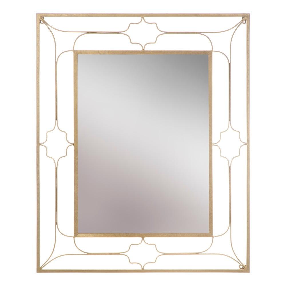 Nástěnné zrcadlo ve zlaté barvě Mauro Ferretti Balcony, 80x100cm