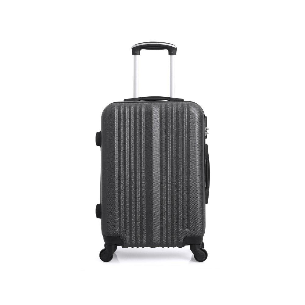 Tmavě šedý kufr na kolečkách Hero Lipari, 97 l