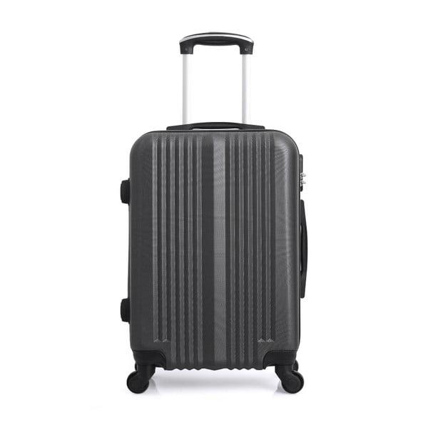 Tmavě šedý kufr na kolečkách Hero Lipari, 37l