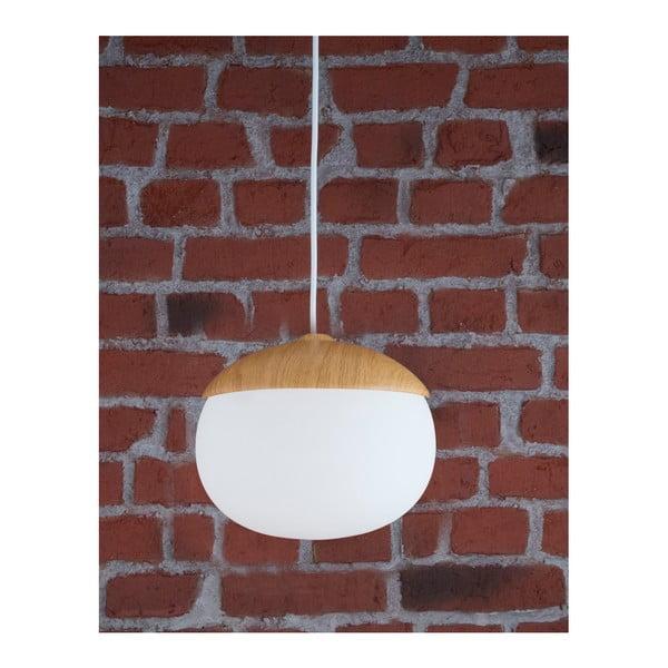 Závěsné svítidlo s dřevěnou základnou Ceil,Ø25cm