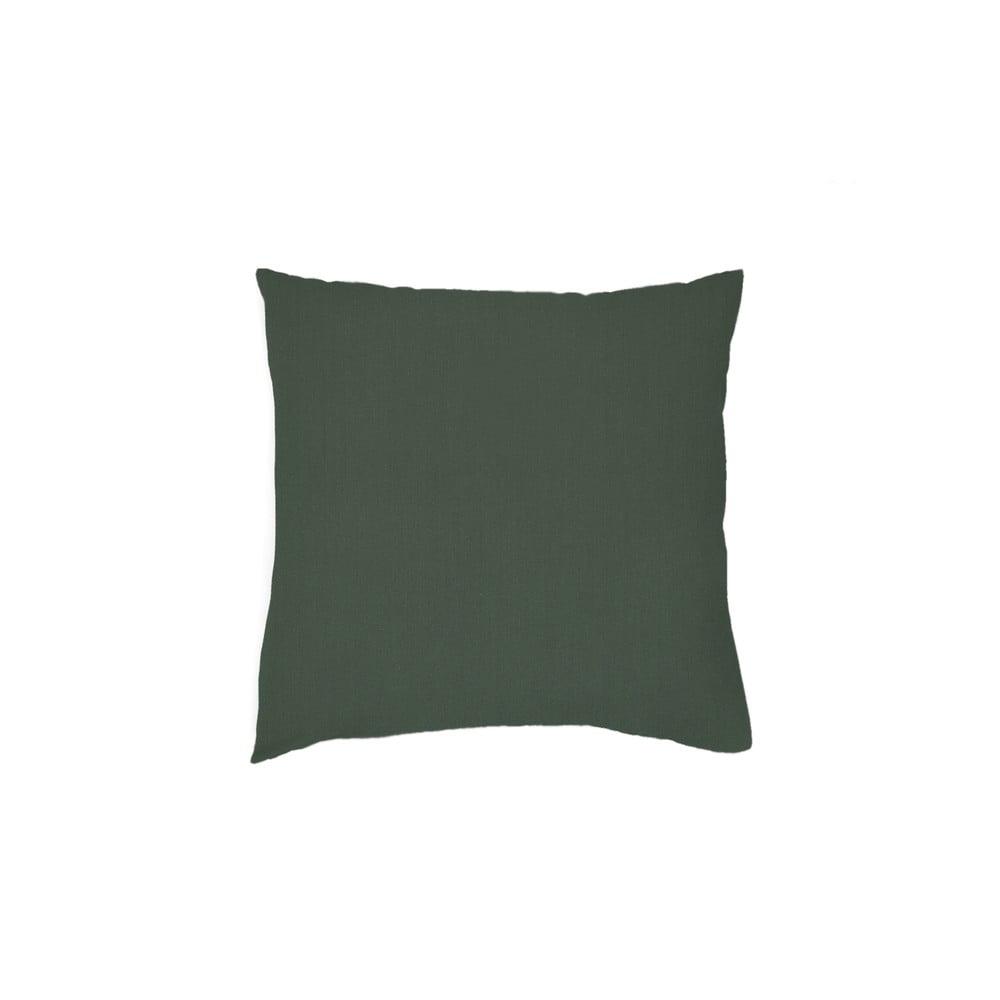 Sada 2 tmavě zelených povlaků na polštář z bavlněného perkálu L'Officiel Interiors Les Essentiels, 80 x 80 cm
