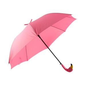 Růžový deštník s motivem plameňáka Le Studio Flamingo