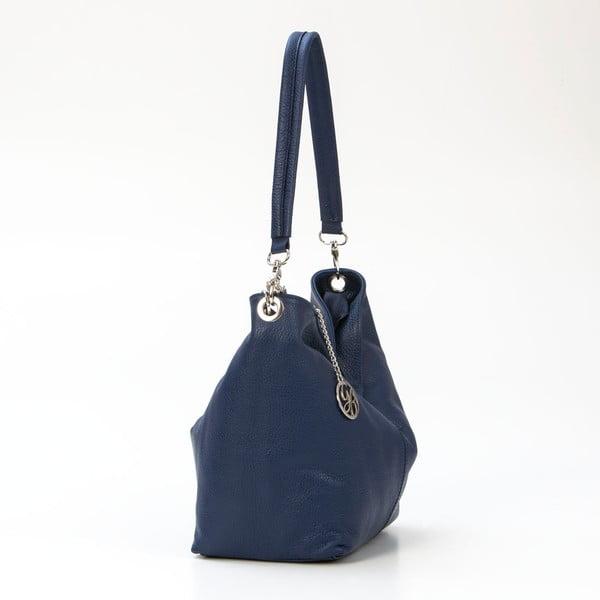 Kožená kabelka Marco, tmavě modrá