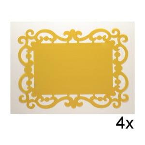 Set prostírání Baroque Gialla, 4 ks