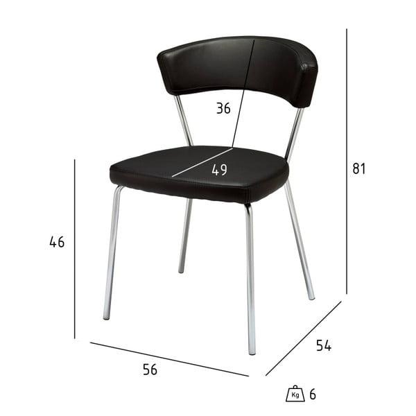 Sada 4 černých jídelních židlí Furnhouse Preben