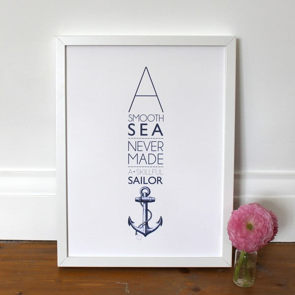 Plakát A Smooth Sea, 30x40 cm