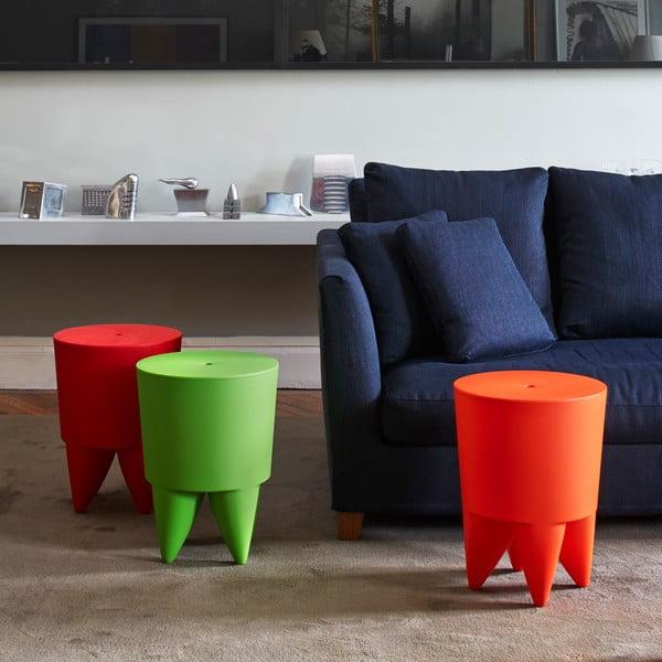 Univerzální stolek/koš/chladič na led Bubu, červený