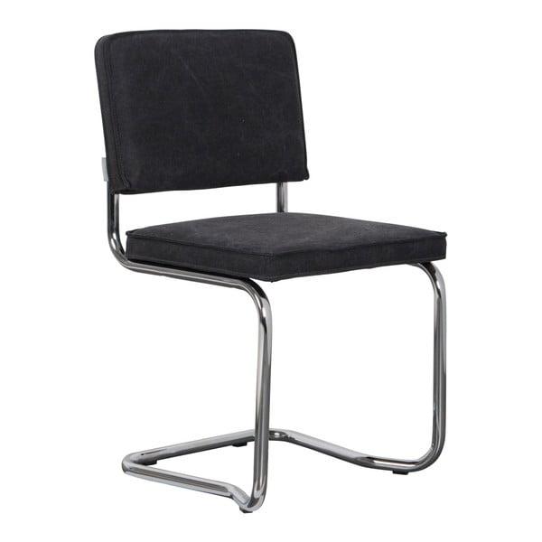 Set 2 scaune Zuiver Ridge Rib Kink Vintage, negru