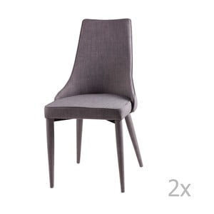 Sada 2 světle šedých jídelních židlí sømcasa Flora