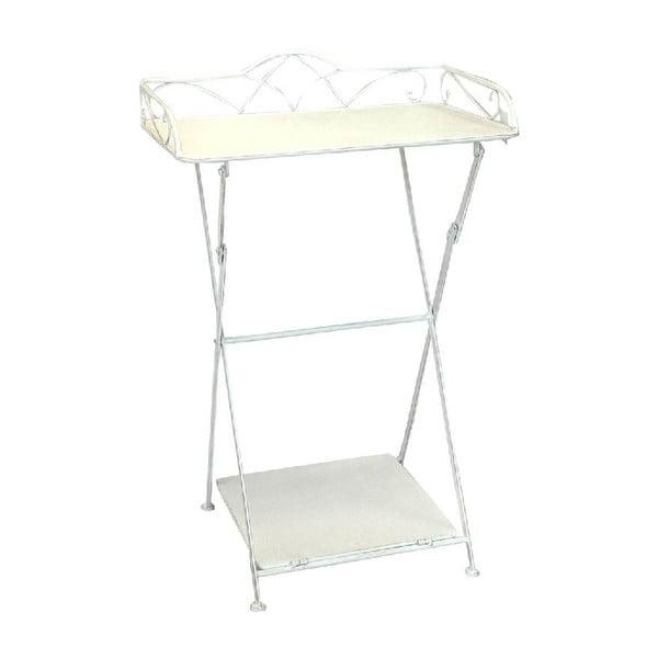 Železný stolek s poličkou Vintage, 51x80x38 cm