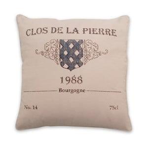 Polštář s náplní Bourgogne Natural, 45x45 cm