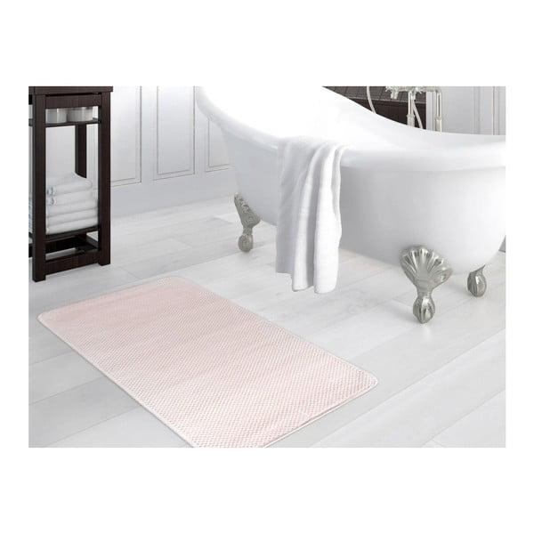 Pudrově růžová koupelnová předložka Noah, 70x110cm