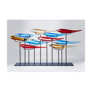 Dekorace s motivem barevných ryb Kare Design, 20 x 80 cm