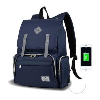 Rucsac maternitate cu port USB My Valice MOTHER STAR Baby Care Backpack, albastru închis imagine