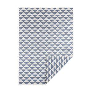 Modro-krémový oboustranný koberec vhodný i na ven Bougari Tahiti, 200 x 290 cm