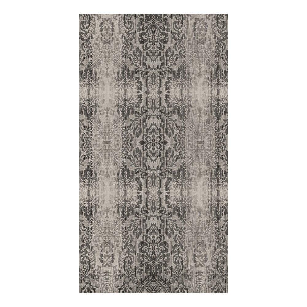 Šedobéžový koberec Vitaus Becky, 80 x 300 cm