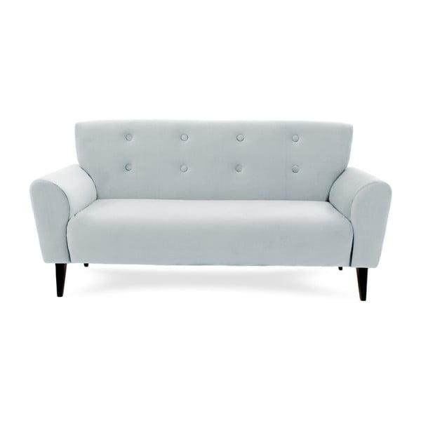 Canapea cu 3 locuri Vivonita Kiara, albastru - gri