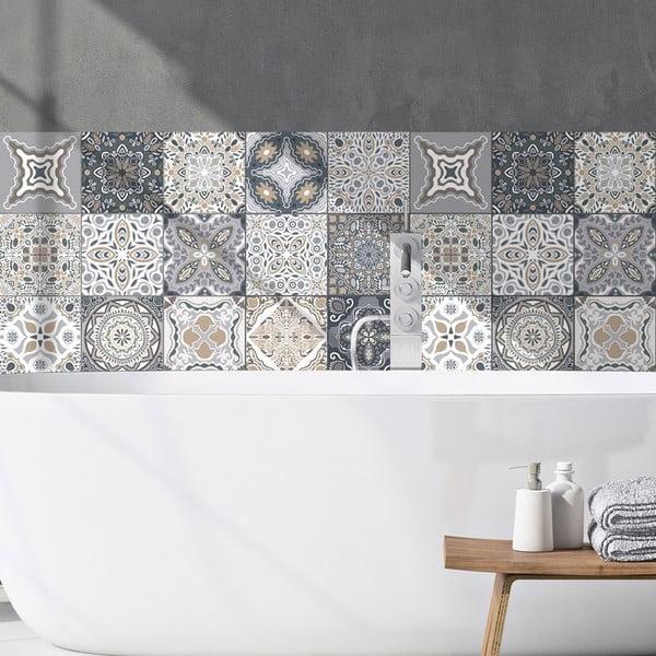 Set 9 autocolante decorative pentru perete Ambiance Orfeo, 15 x 15 cm