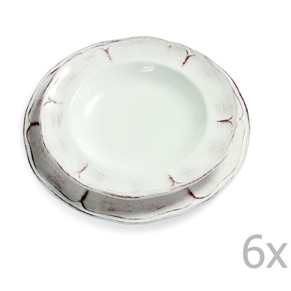 Sada 6 polévkových talířů Rustica, 25 cm