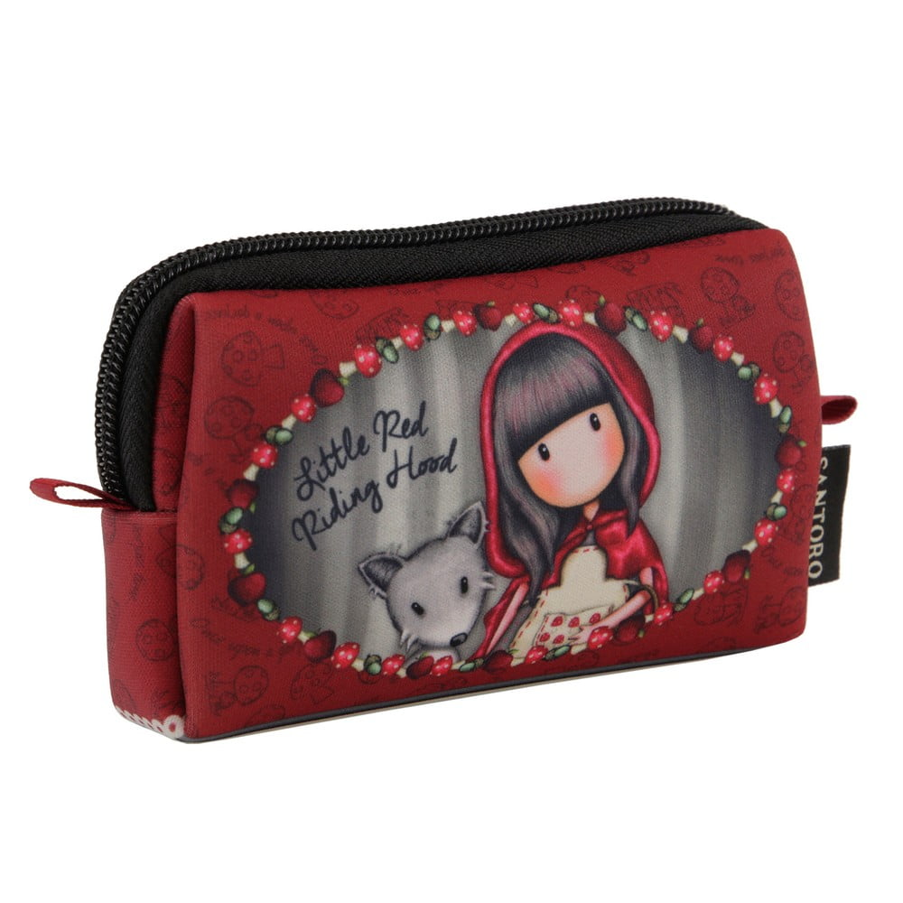 Červená kapsička na zip Gorjuss Little Red Riding Hood