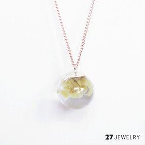 Béžový náhrdelník ze skla Enamor