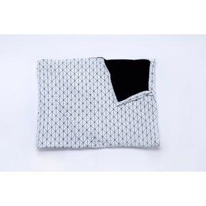 Černobílá deka Mikabarr Folding, 180 x 160 cm