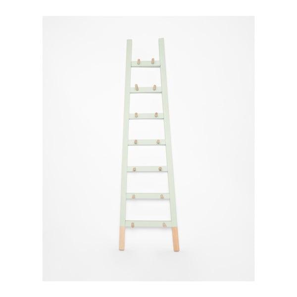 Svetlozelený odkladací dekoratívny rebrík z borovicového dreva Surdic Rosa