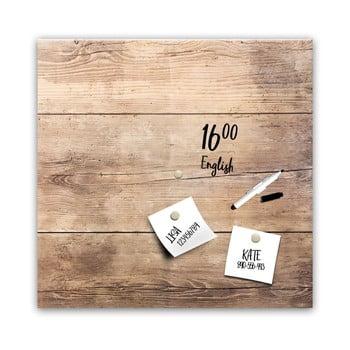 Tablă magnetică Styler Wood, 30 x 30 cm imagine