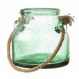 Zelená skleněná dóza Heaven Sends Rope